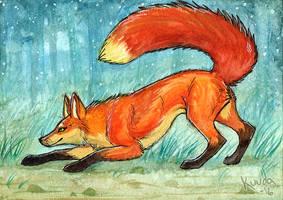 Fox card by Kuuda