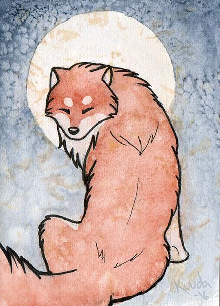 Dog card by Kuuda