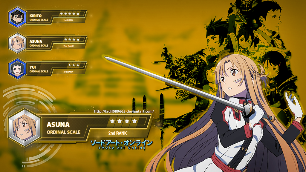 Sword Art Online Wallpapers Desktop Yuuki Asuna By Fadil089665