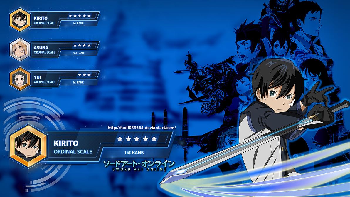 Sword Art Online Wallpapers Desktop Kirito By Fadil089665