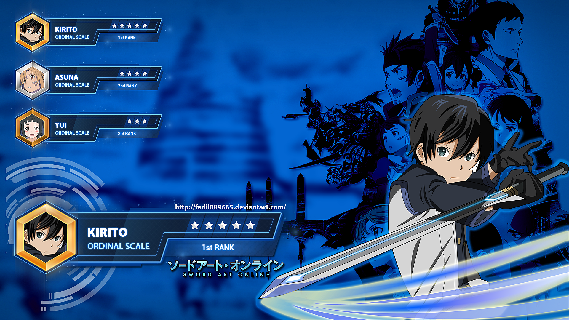 Sword Art Online Wallpapers Desktop Kirito By Fadil089665 On