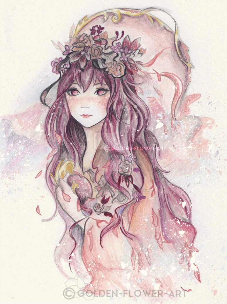 Maiden of the Stars by Golden-Flower-Art