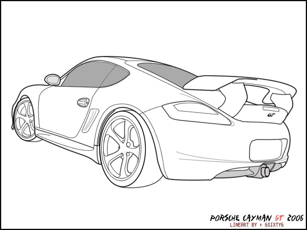 Coloring pages porsche 911 - Porsche Line Art Racecar Coloring Porsche 911
