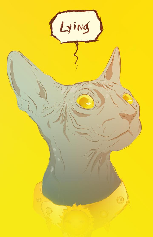 Lying Cat by V-LeMaster