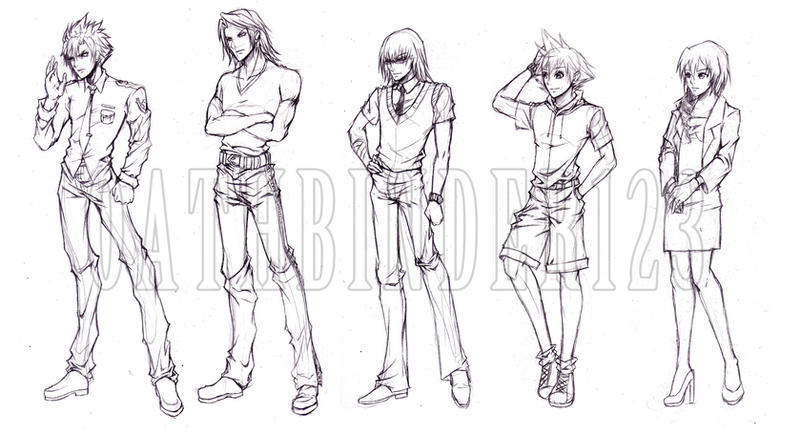 kh FF game conceptual character sketch by OathBinder123 on DeviantArt