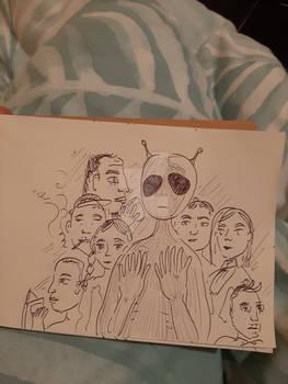 alien in the crowd