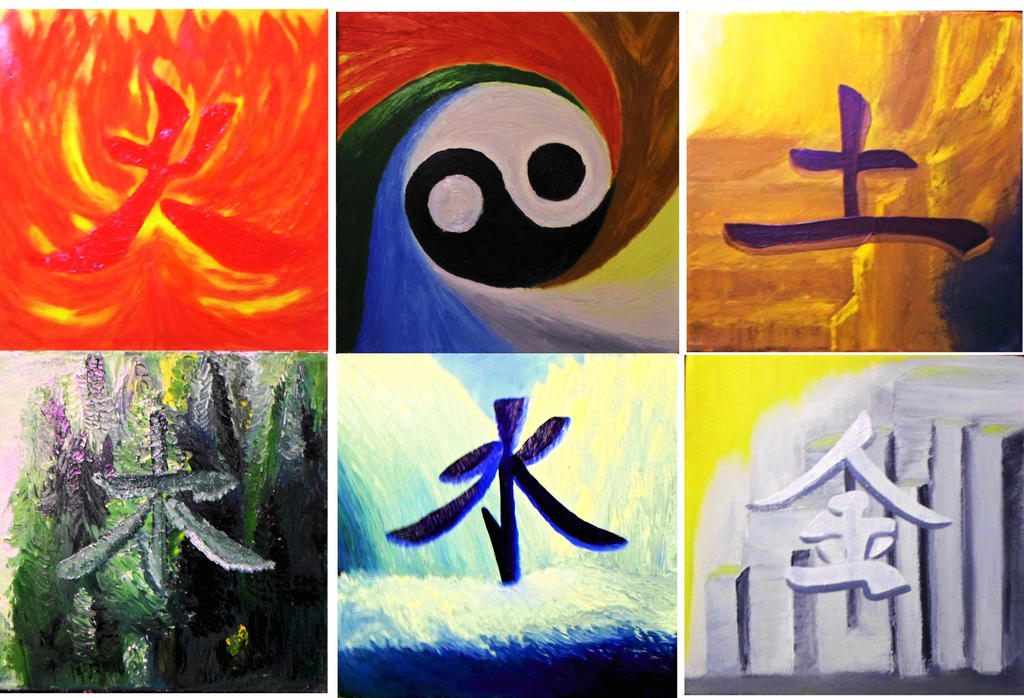 5 elements new edition by KAY-painting