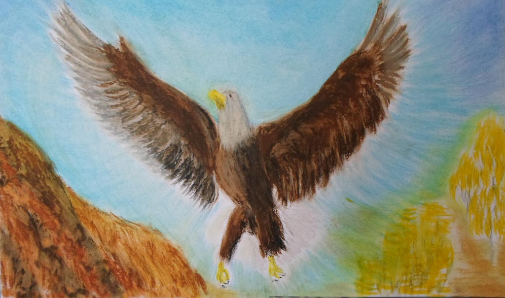 The eagle rises by KAY-painting