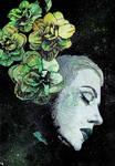 Obey Me (flower girl graffiti portrait)