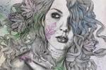 Wake (street art portrait, maple leaf tattoo) by KissMyArt-Artcore