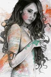 You Lied (erotic female portrait, mandala mehndi) by KissMyArt-Artcore