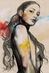 Cleansing Undertones (zentangle sexy nude girl) by KissMyArt-Artcore