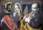 Caravaggio copy oil paint 70x100