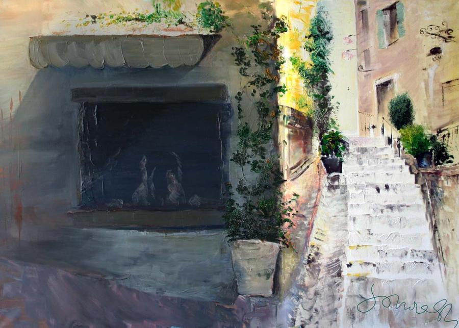 Landscape 70x100 oil paint by SoniaSh