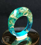 Resin and wood chips ring by NagiSpider
