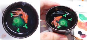 Goldfish 3D craft painting