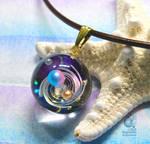 Galaxy and Stars #04 - Resin pendant