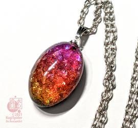 Brilliance of the Sunset - Resin pendant