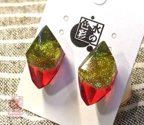 Bicolor Earrings #03