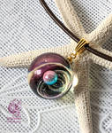 Galaxies in the small ball #02 - Resin pendant