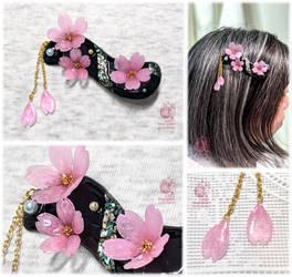 Night cherry blossoms 2021 - Hair Clip
