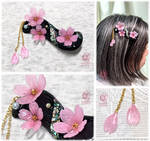 Night cherry blossoms 2021 - Hair Clip by NagiSpider