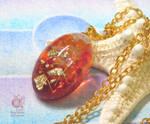 Fire color pendant