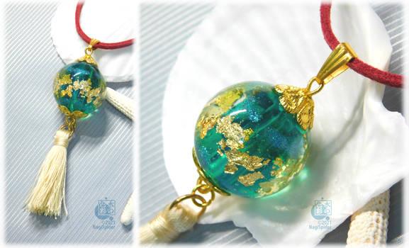 Asian style resin pendant