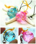 Resin charms of Yo-Yo balloons (water balloons) by NagiSpider