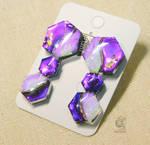 Three hexagons earrings