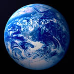 The Blue Planet Earth from Space