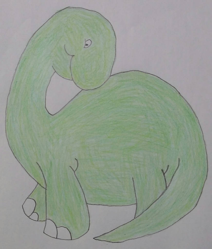 Drawing of a Dinosaur by jcpag2010