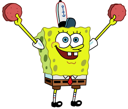 SpongeBob Holding Up Two Patties by jcpag2010
