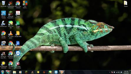 Windows 7 Desktop: Chameleon by jcpag2010
