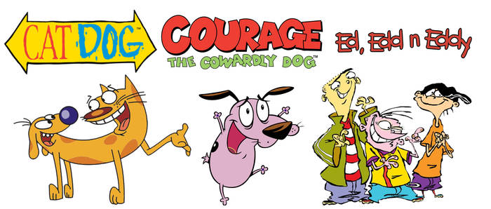 Crossover of CatDog, Courage, and The Eds