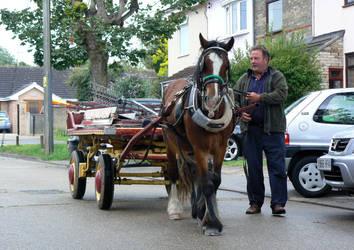 Horse-drawn rag and bone man by e-s-d