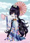 Magnificent Kimono Chibi by ChildOfMoonlight