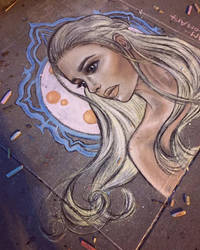 Blonde with Chalk by CatChalks