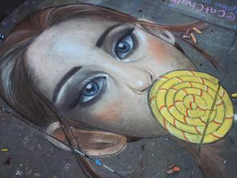 Yellow Lollipop Girl by CatChalks