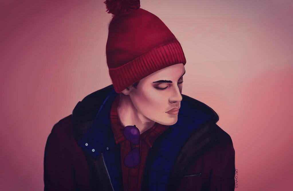 Hipster Wears A Beanie by CatChalks