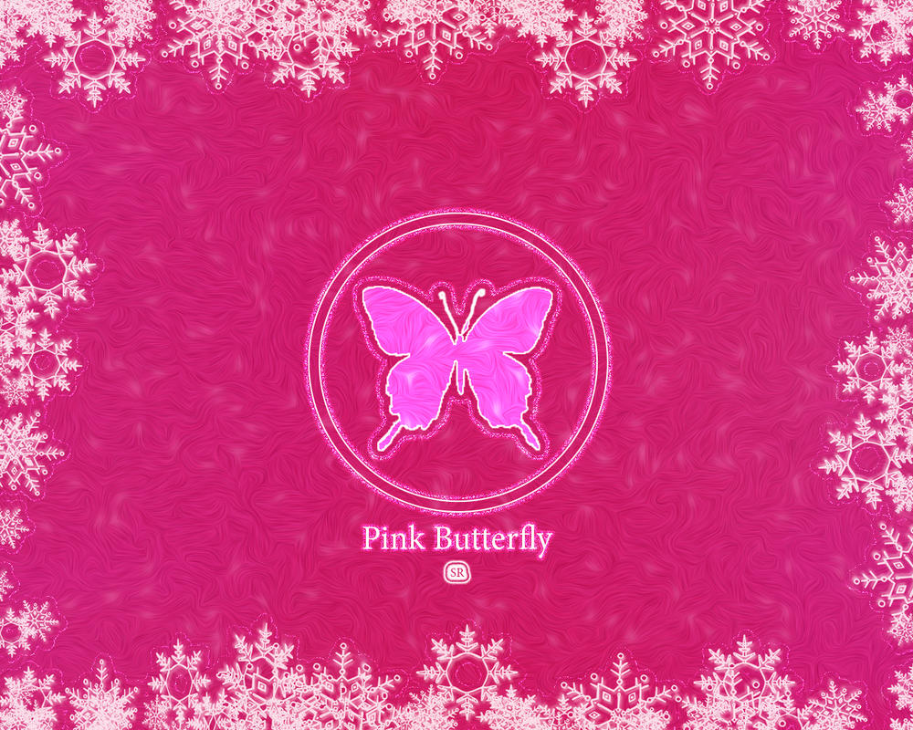 Pink Butterfly snow by rvs51