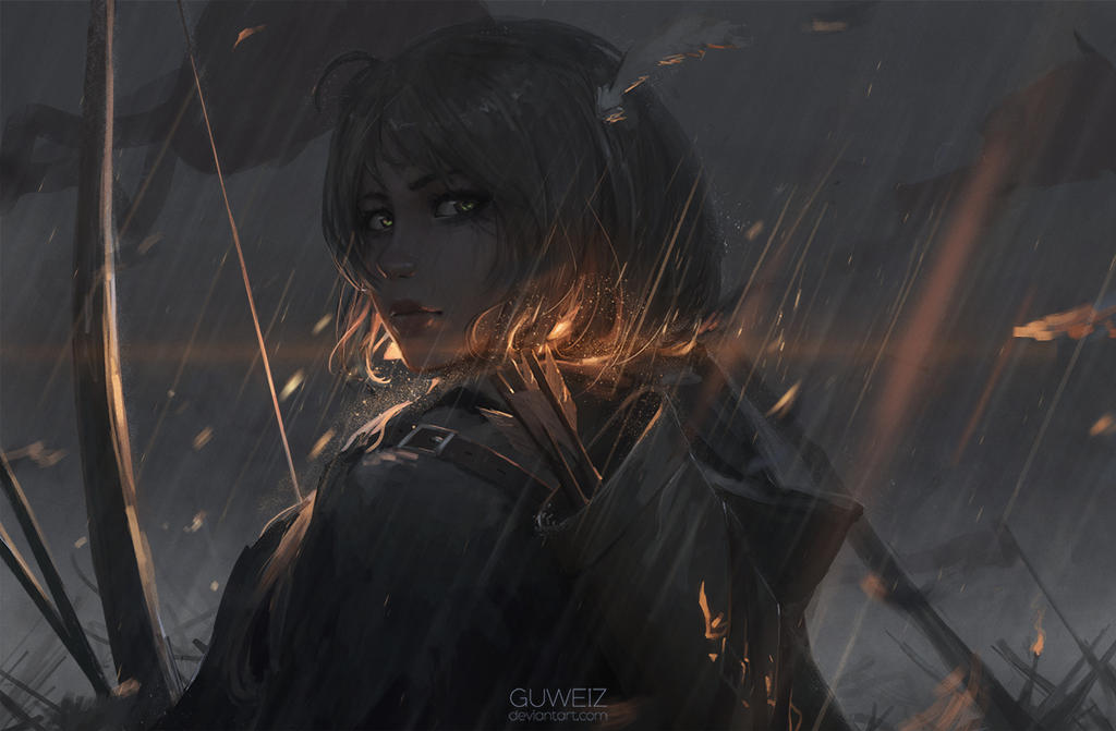 Archer by guweiz on deviantart for Deviantart wlop