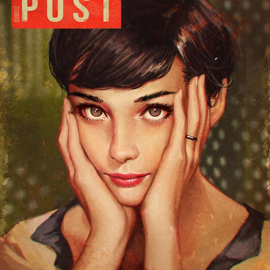 Ilustraciones sueltas chulas encontradas por el internete - Página 5 Audrey_hepburn_by_guweiz-d9pdyiz