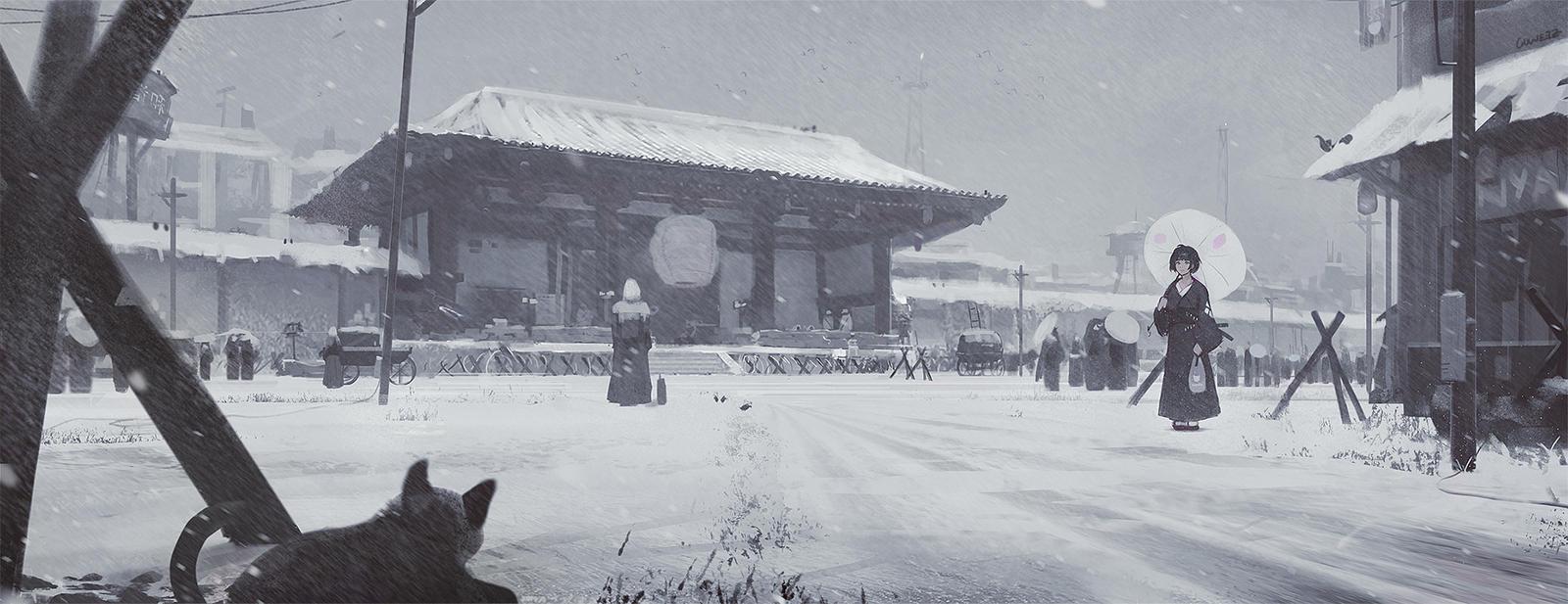Snowy Town by GUWEIZ