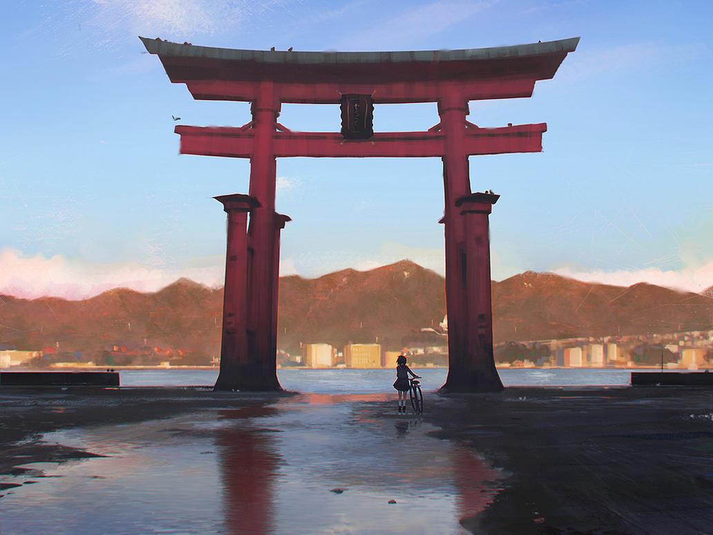 gate by guweiz - Minecraft Japanese Gate
