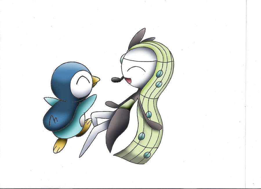 Meloetta and Piplup. Happily dancing. by Superior ...