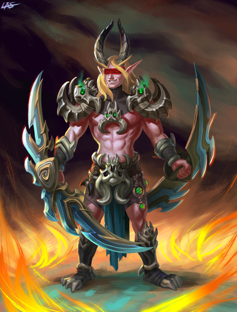 Blood elf demon hunter