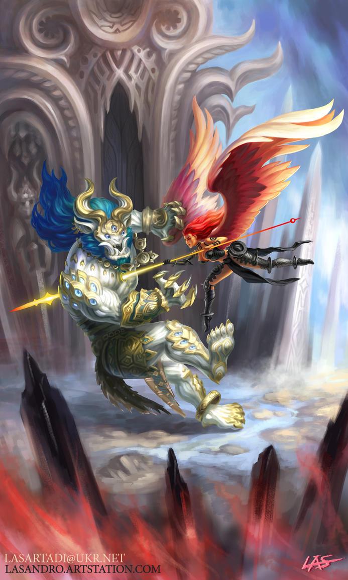 Celestial battle by Lasandro