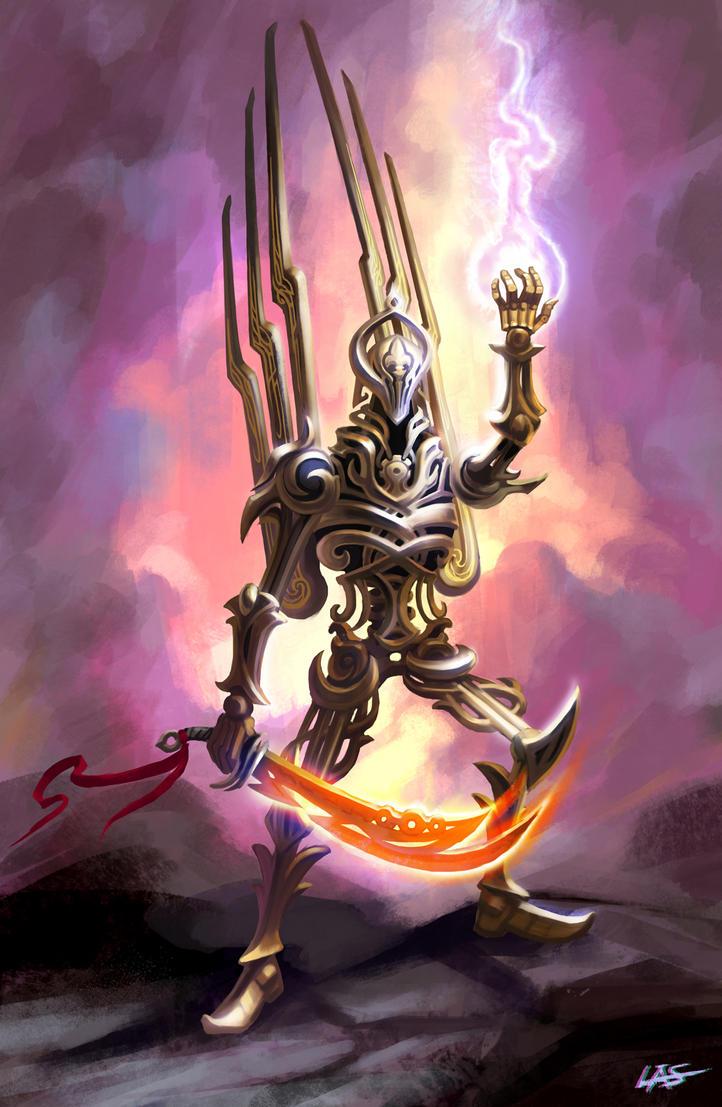 Mechanical Paladin - Divine favor by Lasandro