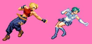 Sailor Mercury Jumping Punch thrid Frame